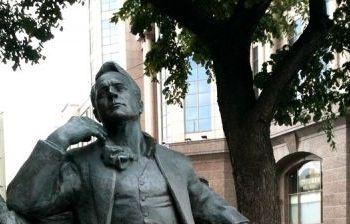Памятник Ф.И. Шаляпину художественное литье из бронзы, гранит г. Москва, Новинский бульвар 2