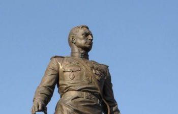 Маршал авиации трижды Герой Советского Союза А.И. Покрышкин г. Новосибирск