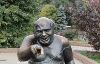 Актер Евгений Леонов г. Москва, ул. Мосфильмовская (Аллея звезд на Мосфильмовской улице)