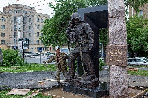 В день пожарной охраны Новосибирской области состоится открытие памятника пожарным и спасателям