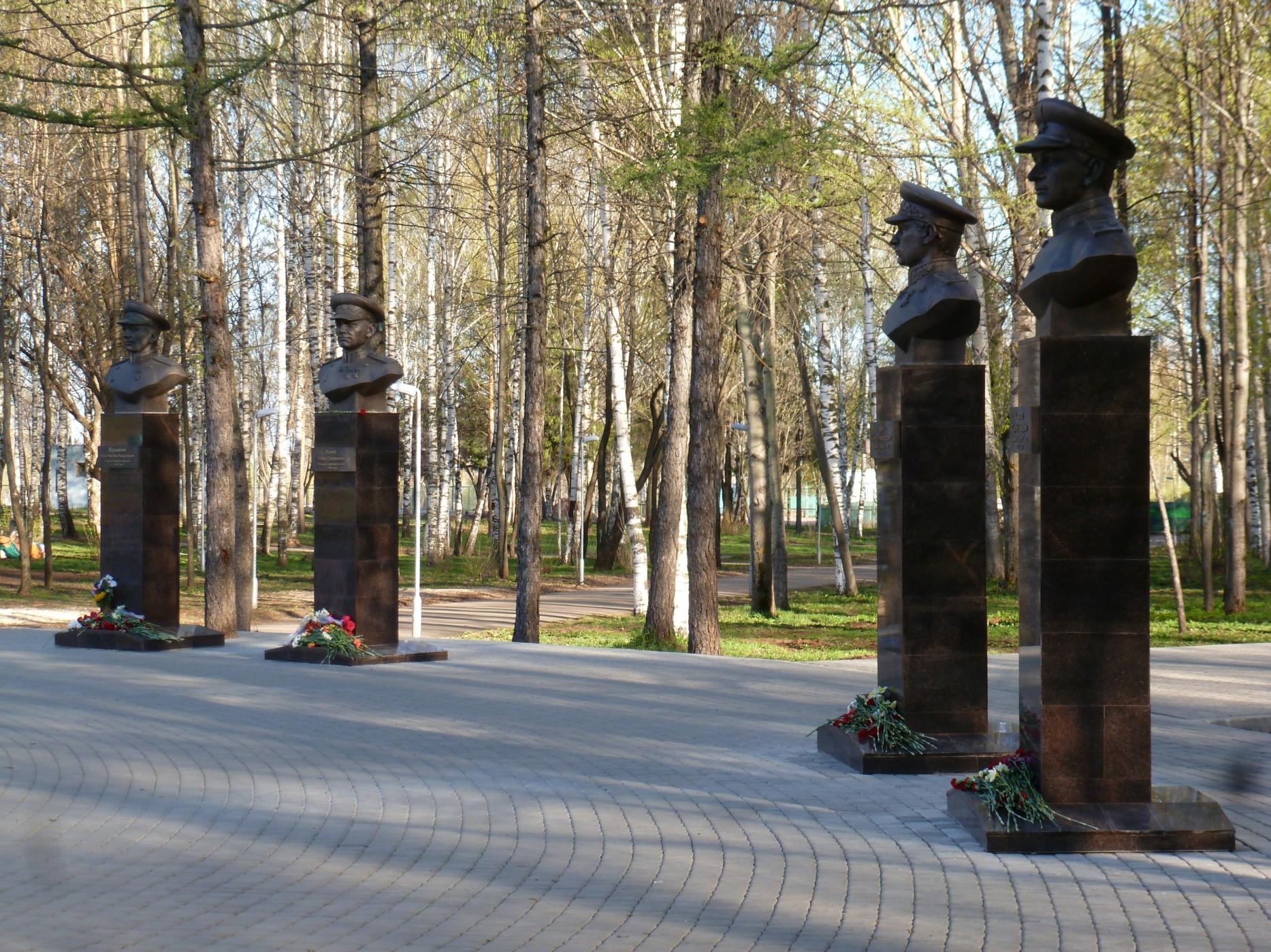 В Кирове установлен памятник четырём маршалам