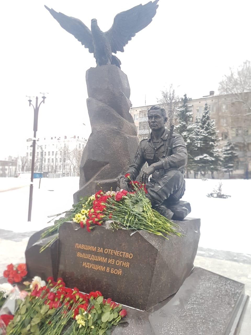 Памятник ветеранам локальных войн в Дзержинском