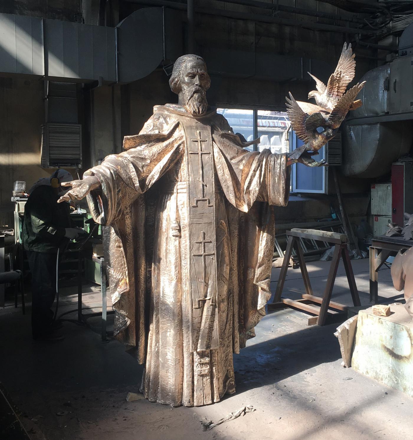 Работа над памятников Сергию Радонежскому!