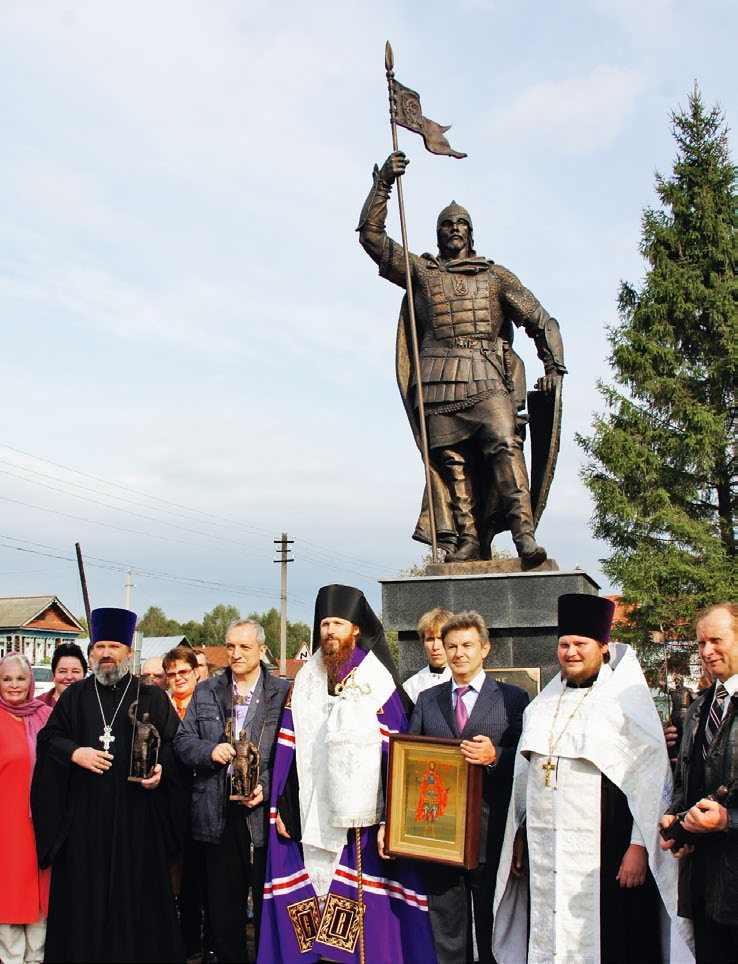Памятник святому князю Александру Невскому в селе Березовка