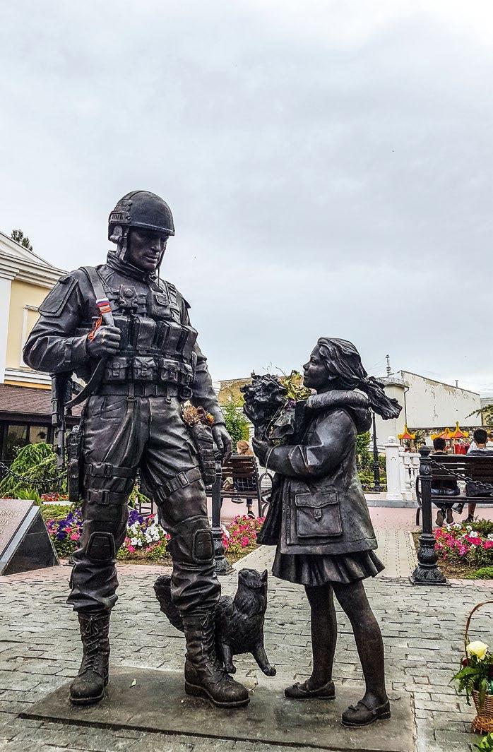 Памятник военнослужащим, принимавшим участие в присоединении Крыма к России в Симферополе
