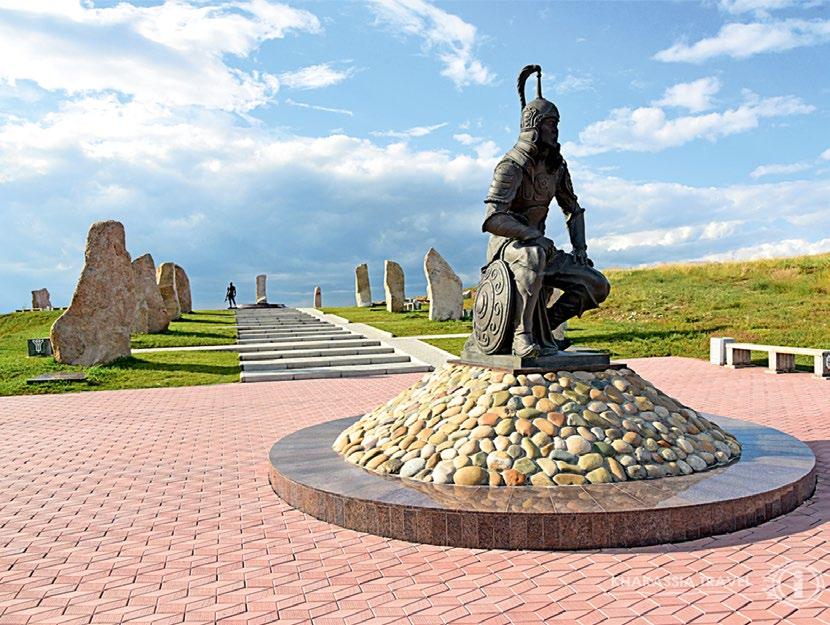 Древнему войну на мемориальном комплексе в Абакане