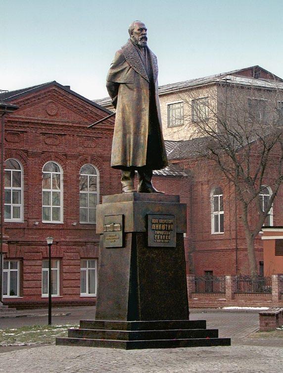 Памятник Константину Циолковскому и Сергею Королеву в Калуге