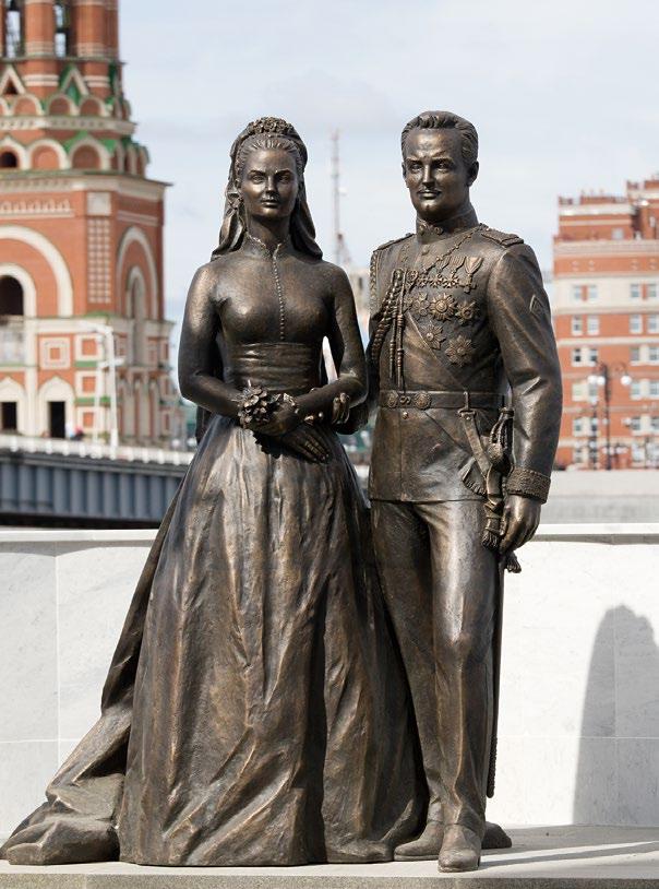 Памятник молодоженам в Йошкар-Оле