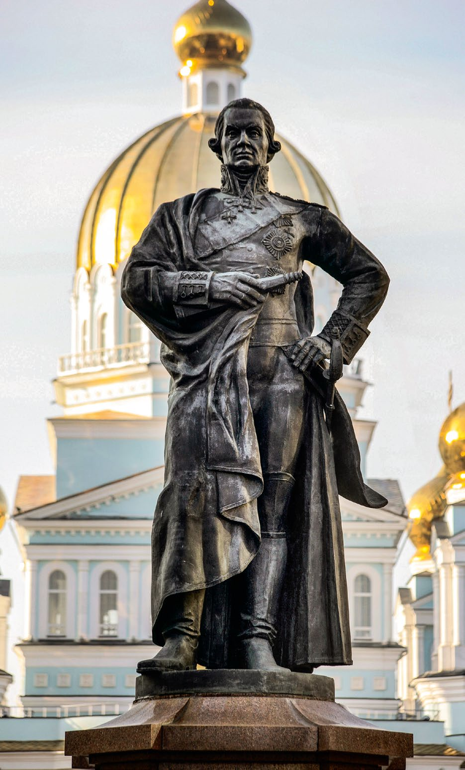 Памятник адмиралу Федору Ушакову в Саранске