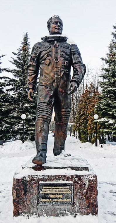 Памятник космонавту Герману Титову в Краснознаменске