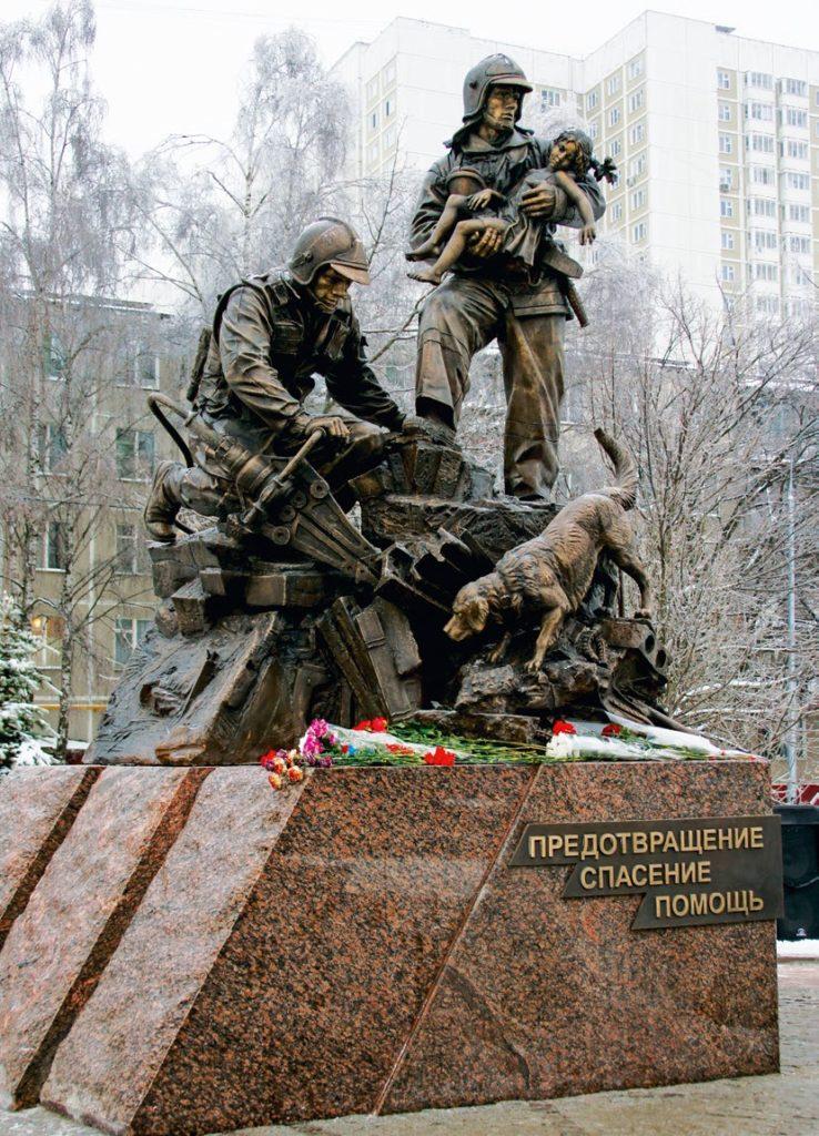 Памятник сотрудникам МЧС в Москве | Портфолио