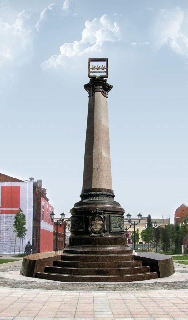 Стела «Основателям Стерлитамака» изготовлен на скульптурном предприятии «Лит Арт». Установлен в Башкортостане в 2016 году.