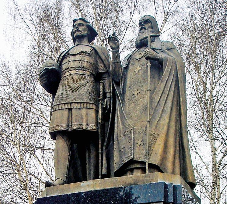 Памятник князю Георгию Всеволодовичу и епископу Симону Суздальскому в Нижнем Новгороде