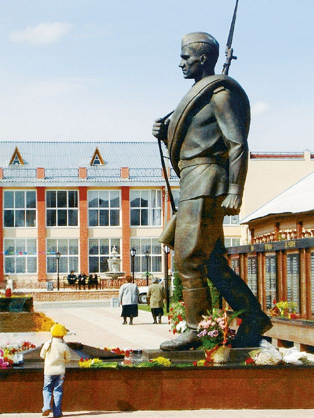 Памятник солдату в Мышкине