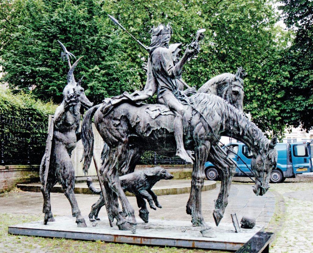 Скульптура «Рыцарь, смерть и дьявол» по картине Дюрера в Гааге | Портфолио