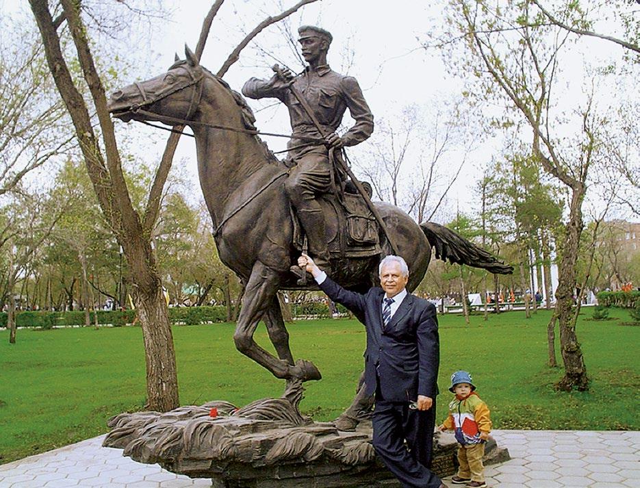 Памятник кавалеристу в Оренбурге