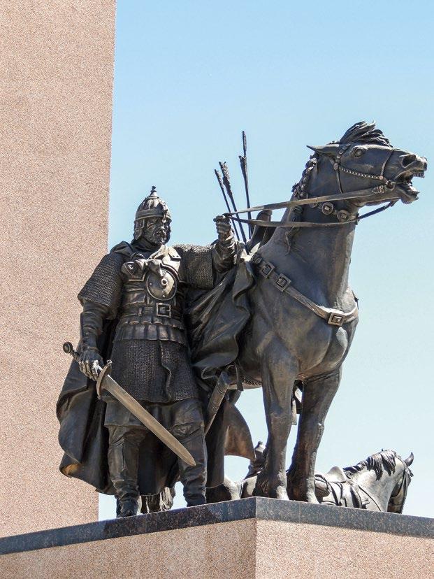 Памятник русской кавалерии в деревне Орлово. Богатырь