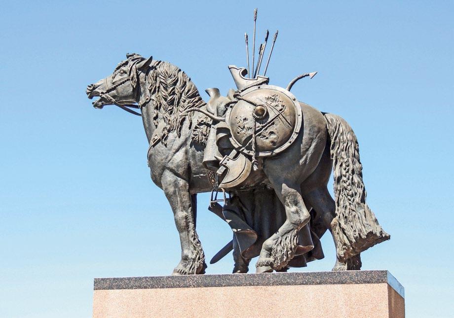 Памятник русской кавалерии в деревне Орлово. Богатырь | Портфолио