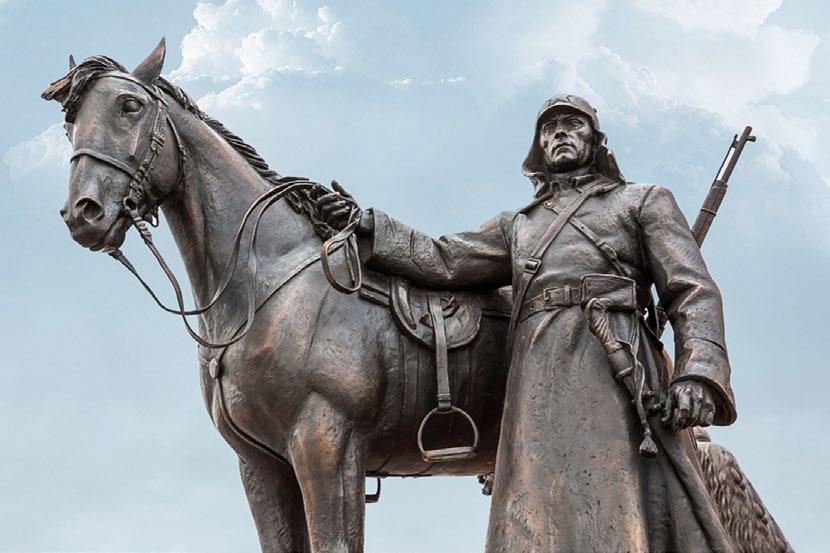 Памятник русской кавалерии в деревне Орлово. Красноармейц