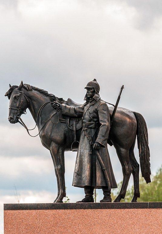 Памятник русской кавалерии в деревне Орлово. Красноармейц   Портфолио
