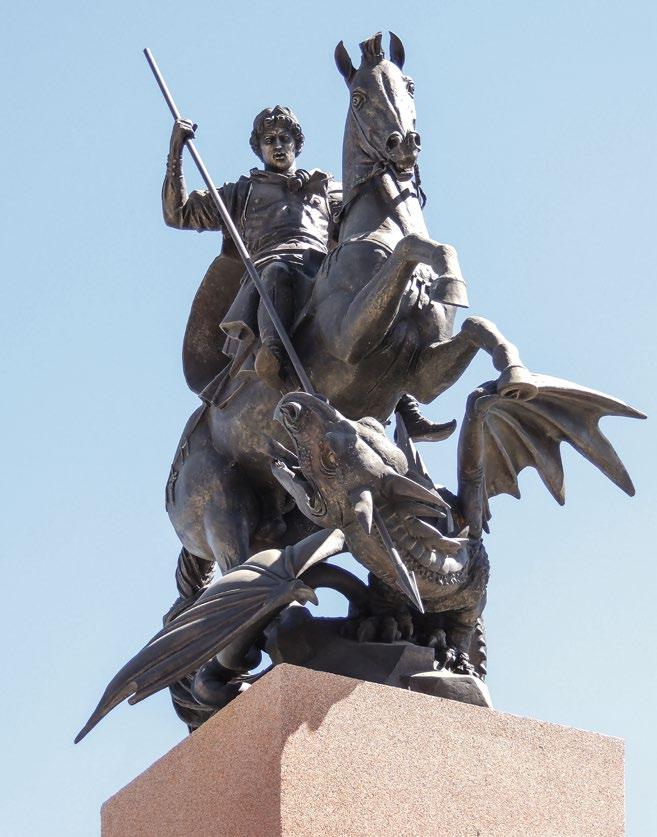 Памятник русской кавалерии изготовлен из бронзы на скульптурном предприятии «Лит Арт». Установлен в деревне Орлово Московской области в 2014 году.