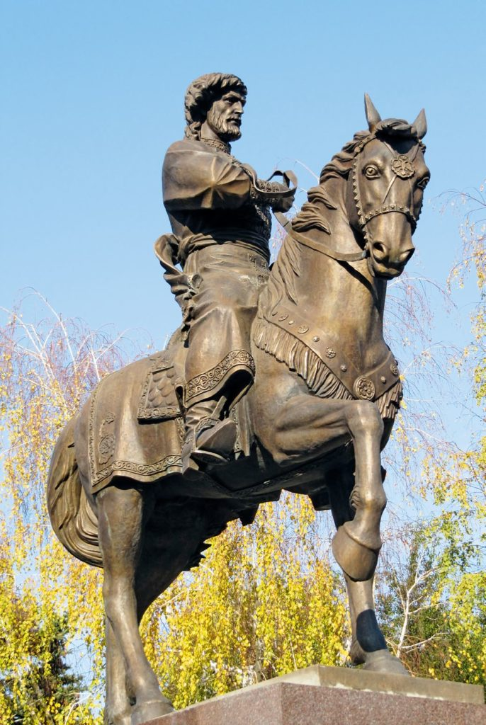 Памятник князю Григорию Засекину изготовлен из бронзы на скульптурном предприятии «Лит Арт». Установлен в Волгограде в 2009 году.