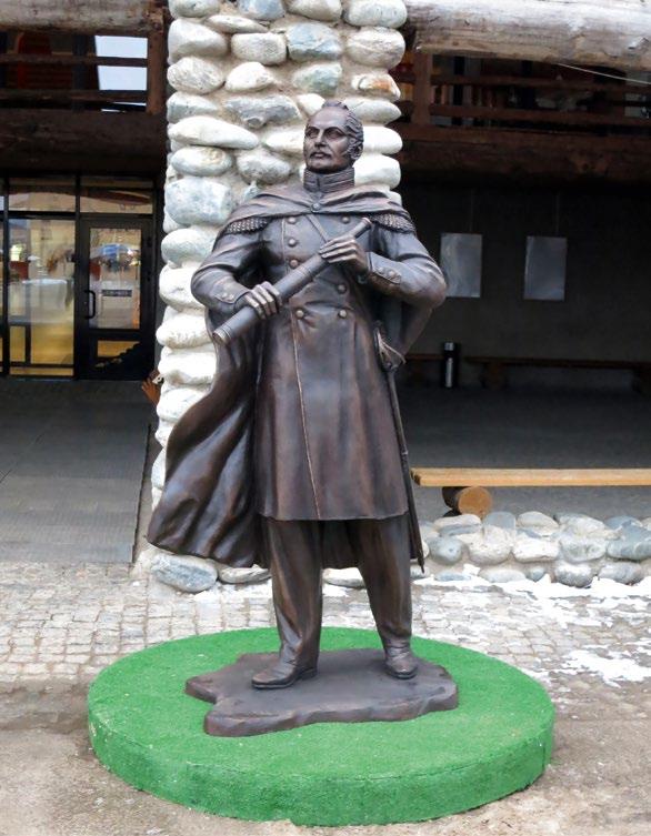 Памятник мореплавателю Фаддею Беллинсгаузену в Монтевидео