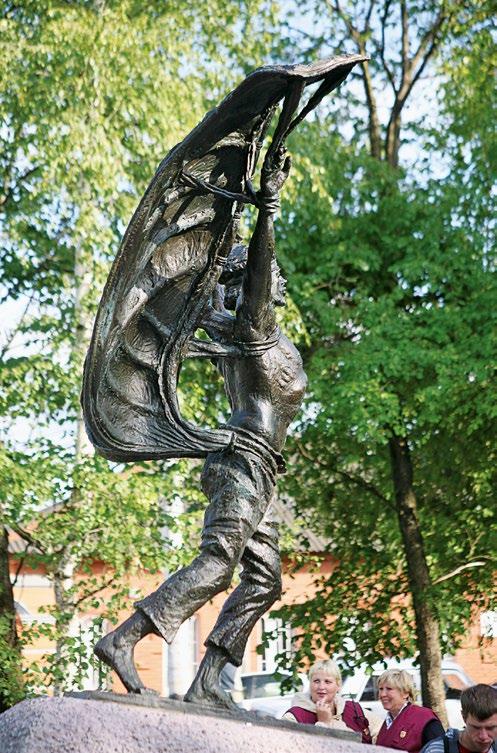 Памятник воздухоплавателям находится в городе Кунгуре в Пермском крае. Открытие монумента состоялось в 2009 году в центре города. Бронзовый памятник первому российскому воздухоплавателю установлен в городском сквере воздухоплавателей на каменном метровом постаменте. На передней части расположены бронзовые круглые фризы с именами финалистов местного конкурса воздухоплавателей. На постаменте высится скульптура самоучки Никиты Летуна: его имя известно из старинных легенд времен Ивана Грозного. К спине и рукам скульптуры прикреплены бронзовые крылья, из-за чего создается впечатление, что юноша вот-вот взлетит. Высота скульптуры составляет около 170 см. Идея создания памятника принадлежит местным градоначальникам, жителям города, а также скульптору Алексею Залазаеву, который взялся за работу над проектом. Необычная скульптура призвана увековечить стремление к полету, которое сопровождает человечество на всей его истории.