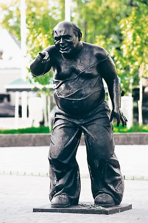Памятник актеру Евгению Леонову на Аллее звезд на Мосфильмовской