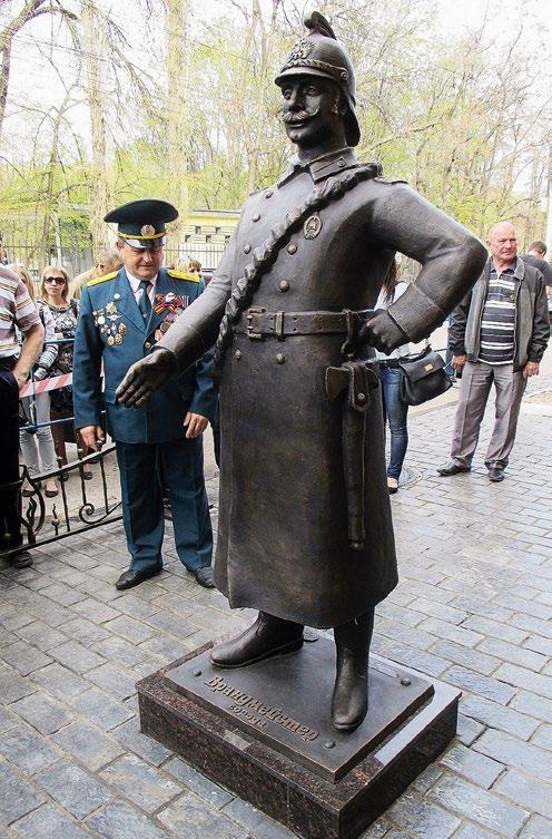 Памятник работникам пожарной службы в Саратове