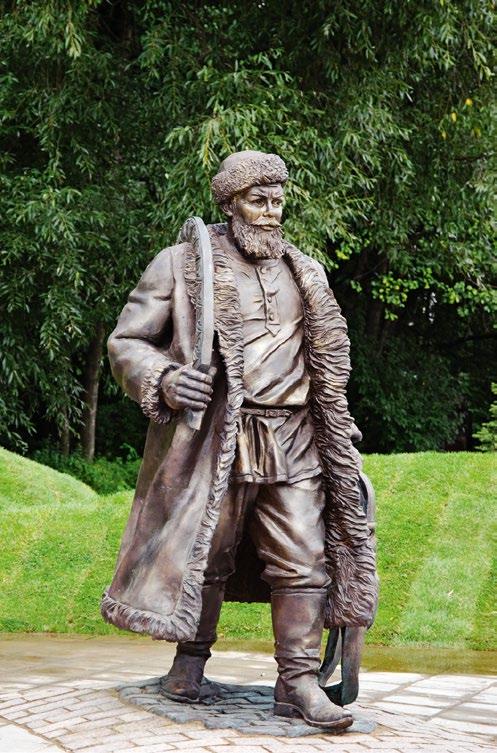 Памятник ямщику изготовлен из бронзы на скульптурном предприятии «Лит Арт». Установлен в Москве в 2009 году.
