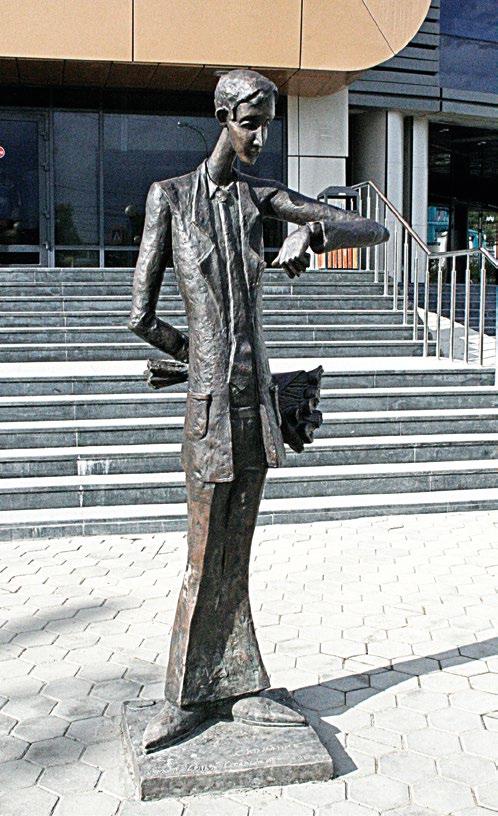 Памятник влюбленному в Иркутске