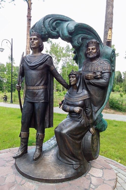 Скульптура «Сказка о царе Салтане» в поселке Томилино