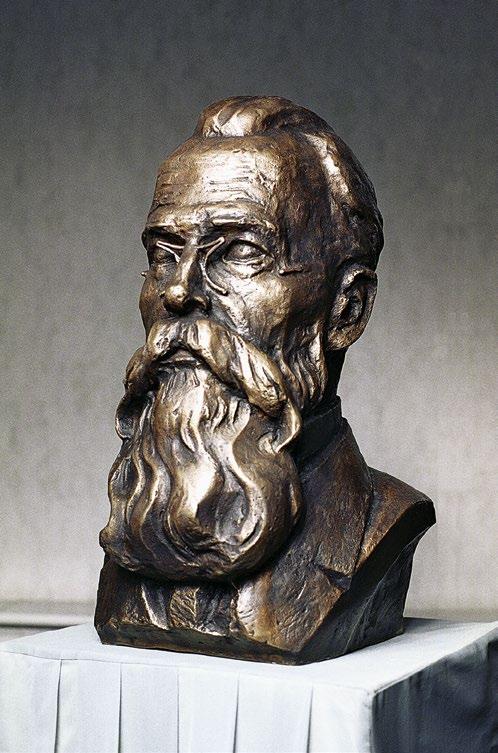 Бюст композитора Николая Римского-Корсакова изготовлен из бронзы на скульптурном предприятии «Лит Арт». Установлен в Москве.