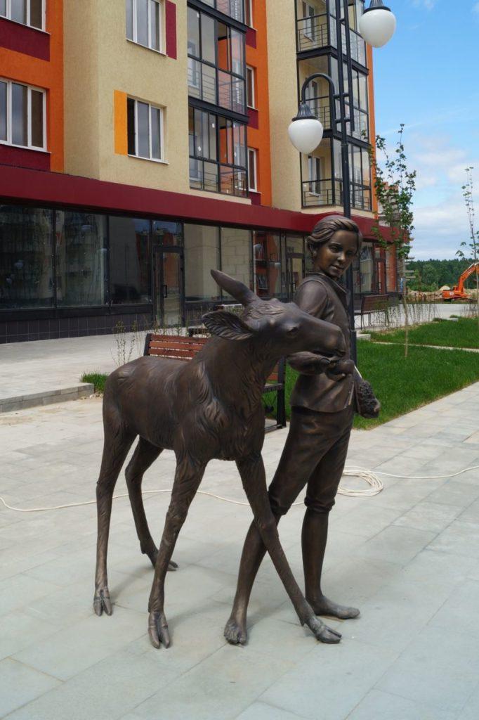 Скульптура «Лосенок» в Мытищах   Портфолио