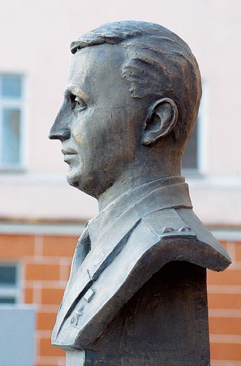 Бюст Героя Российской Федерации Олега Ильина в Рязани