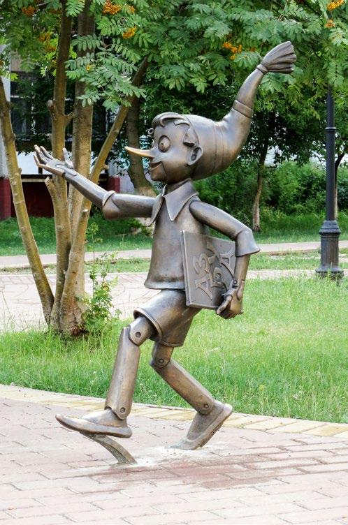 Памятник «Приключения Буратино» в Раменском Московской области | Портфолио