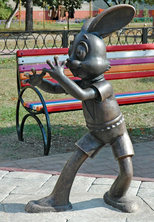Скульптурный ансамбль «Ну, погоди» в Раменском Московской области | Портфолио