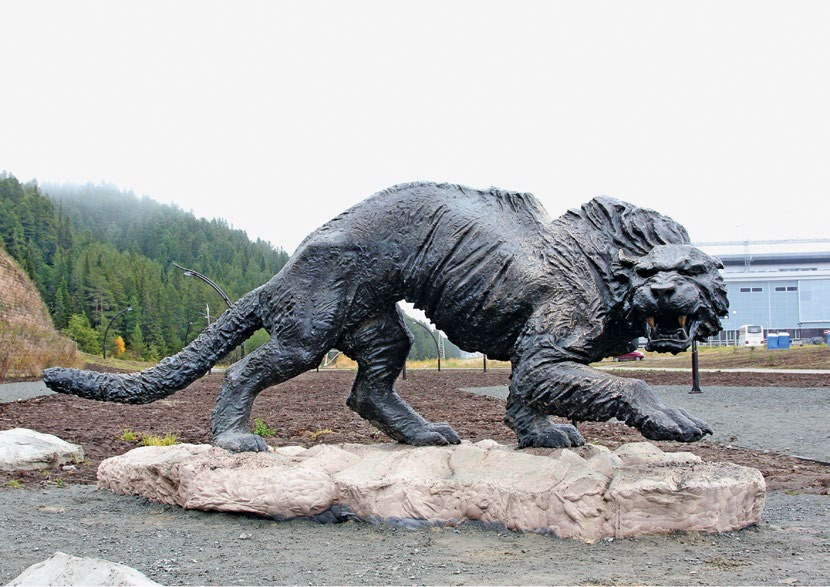 Скульптура «Тигр» в Ханты-Мансийске