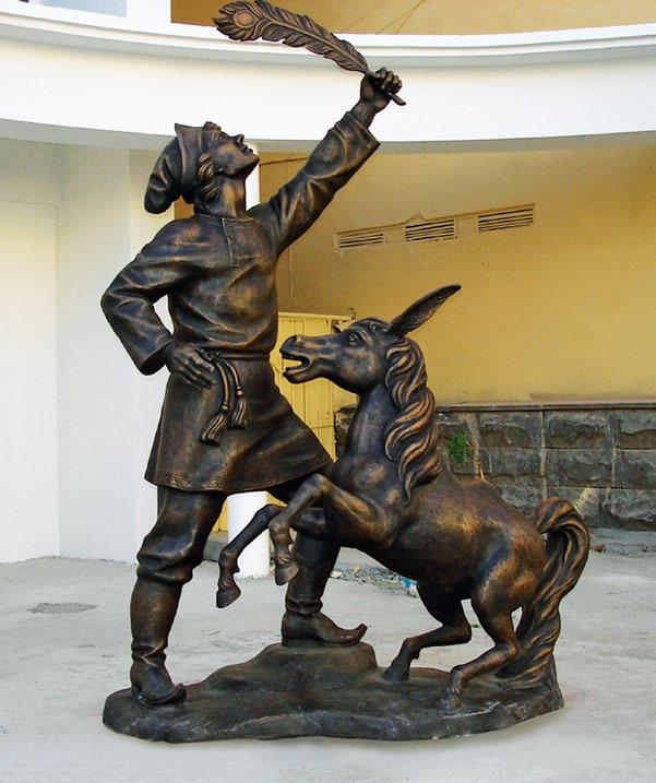 Памятник Иванушке и Коньку-Горбунку в Астрахани