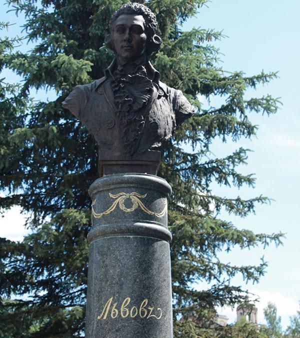 Бюст архитектора Николая Львова в городе Торжок   Портфолио