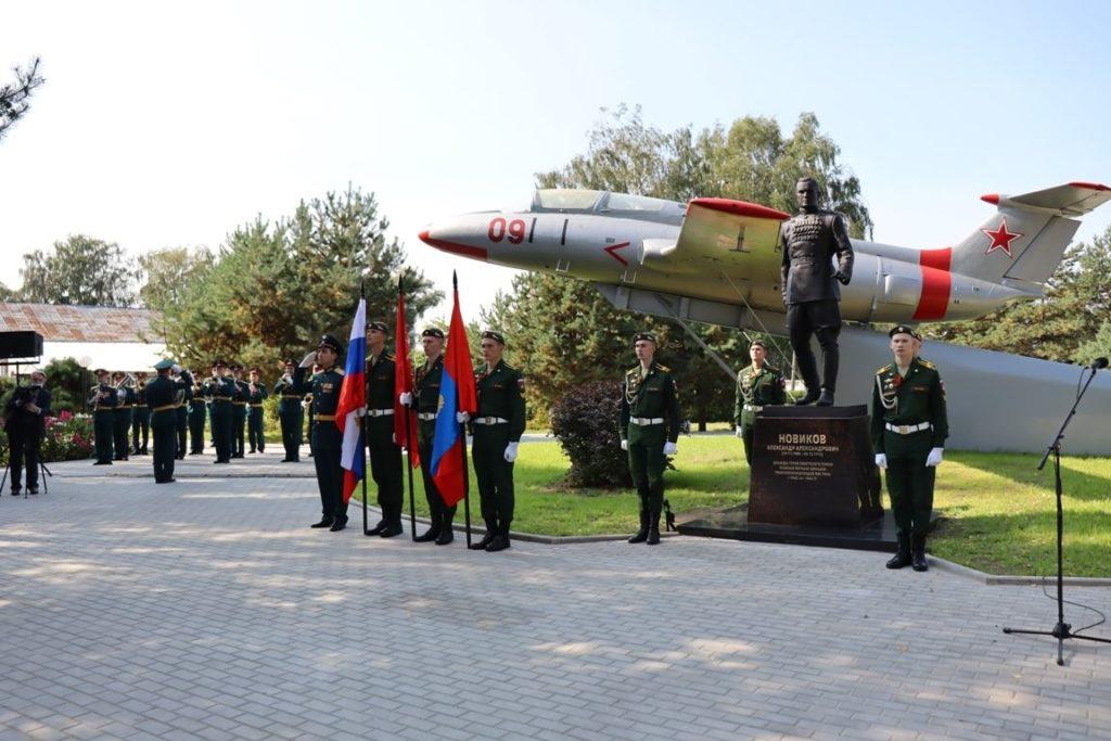 Памятник главному маршалу авиации, дважды Герою Советского Союза — Новикову А. А. в Костроме | Портфолио